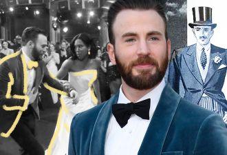 """Крис Эванс на """"Оскаре"""" убедил всех, что в него вселился Кэп. И вы поверите, увидев ролик с ним и Реджиной Кинг"""