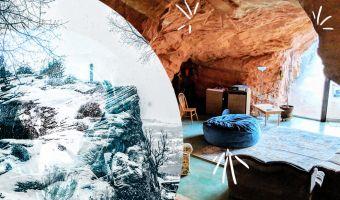 Парень сдаёт в аренду уютную пещеру. Вы тоже можете такую сделать, понадобятся холм и динамит