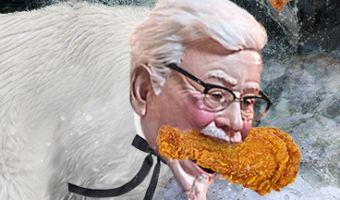 KFC прислала женщине очень странного полковника Сандерса. Он придёт к вам в кошмарах