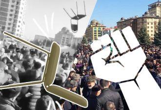 В Ингушетии протестующие закидали силовиков стульями. Как разрешённый митинг обернулся дракой с Росгвардией