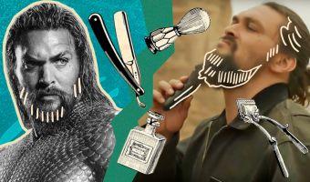 Джейсон Момоа снял видео, как сбрил свою бородищу. И это не омолаживающая процедура, а акция во благо планеты