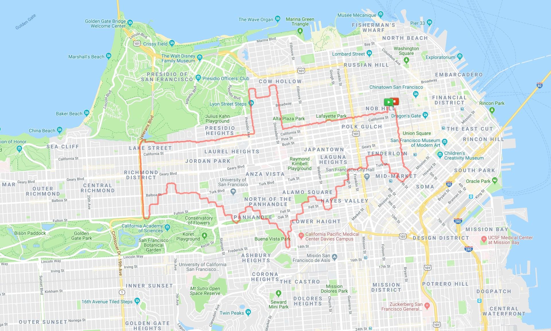 ВСан-Франциско бегун рисует картины при помощи фитнес-трекера