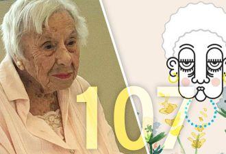 107-летняя именинница поделилась секретом своего долголетия. Он очень прост, но есть одна несостыковка