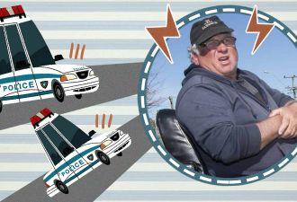 В Новой Зеландии засняли самую безумную полицейскую погоню. И безногий водитель всё-таки смог убежать от копов