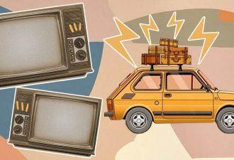 Мужчина купил телевизор, а тот не помещался в авто. Он решил проблему, но теперь у его сына появились вопросы