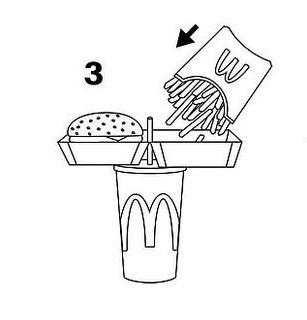 3 этап - Заполните свободную половину коробочки картофелем.