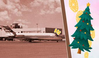 Литовский аэропорт показал, как не тратиться на ёлочку и гирлянды. Спасибо вооружённым до зубов пассажирам