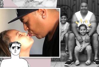Отец на фото целует дочь в губы, но оправдываться не будет. У него есть на это причины и грустная предыстория