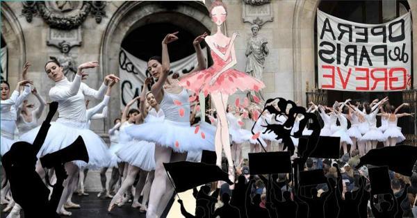 Забастовки в Париже - лучшее, что вы сегодня увидите. Балерины по-своему выразили протест пенсионной реформе