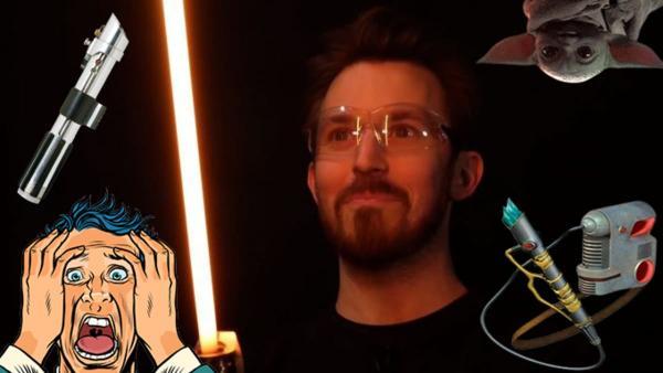 Парень создал световой меч джедаев, но это уже не игрушка. Лучше вы не видели, и даже можете сделать такой же