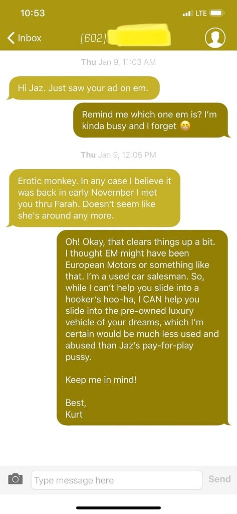 Парень сменил номер и стал получать СМС на имя девушки. Диалог у него ни с кем не сложился, но троллинг удался