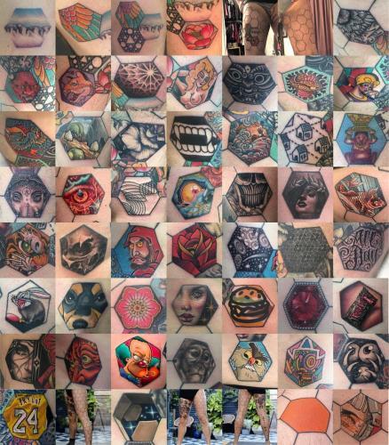 Мужчина придумал, как покрыться татуировками целиком. И перфекционистам и трипофобам на него больно смотреть