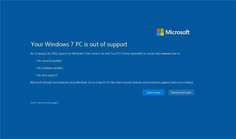 Microsoft отключает обновления системы Windows 7. Олдскульщики интернета оказались не готовы с ней попрощаться