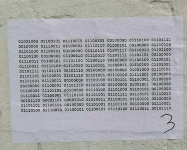 Неизвестный оставил в магазине загадочное послание и перепугал весь персонал. Сможете ли вы его расшифровать?