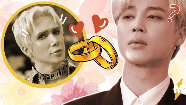 Двойник солиста BTS вышел замуж за картонную версию оригинала. Но другие фаны не ждут идиллии у супругов