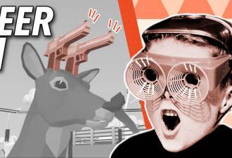 Олень на драконе и полный дестрой. В Steam вышел DEEEER Simulator, и это японское безумие нового уровня