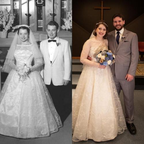 Девушка вышла замуж в роскошном платье своей бабушки. Но людей интересует не она, а жених, ведь он - Джон Сноу