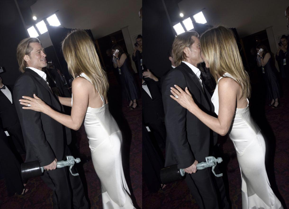 Брэд Питт обрадовался премии Гильдии киноактёров США. Ведь теперь ему точно повезёт в тиндере