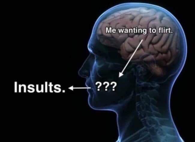 По соцсетям расходится новый мем о том, что думает голова и что говорит рот. Они не дружат, и людям больно