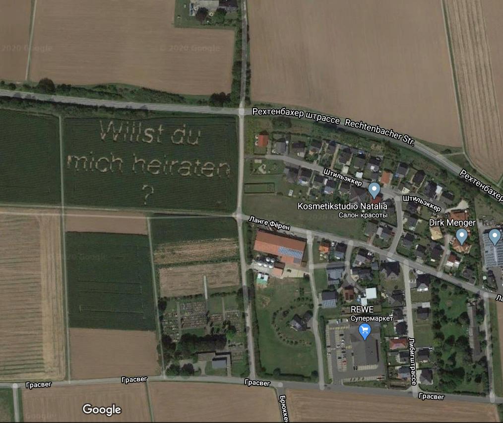 Фермер сделал такое предложение свое девушке, что оно попало на Google Maps