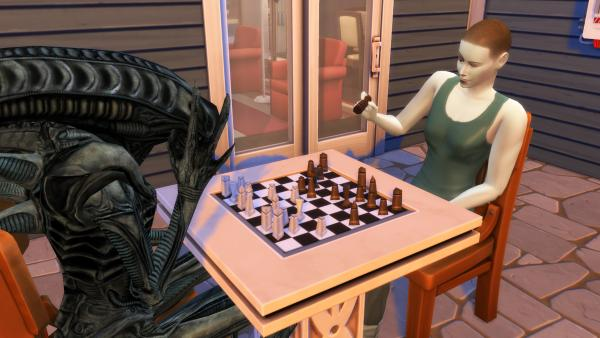 В The Sims 4 никто не услышит твоего крика. Эллен Рипли живёт в квартире с Чужим, и людям жаль их сантехнику