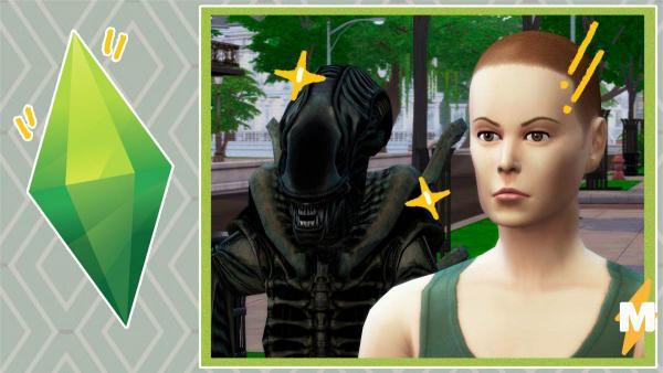 В The Sims 4 никто не услышит твоего крика. Эллен Рипли поселили в квартиру с Чужим, и это