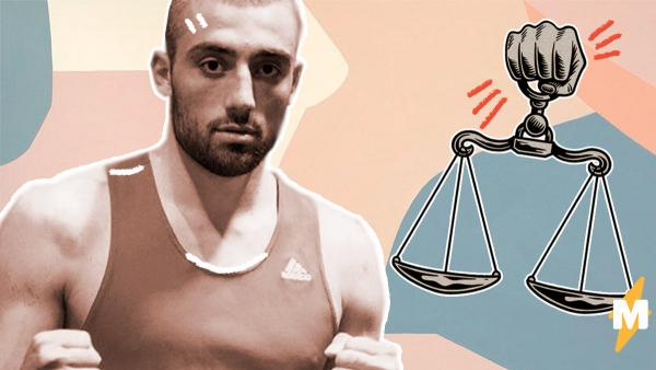 Адвокат Георгия Кушиташвили показал, как росгвардеец может сам себе сломать нос. А боксёр тут ни при чём