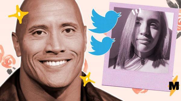 Дуэйн Джонсон пришёл в твиттер своей дочки. И доказал: даже Скала порой неловко шутит как типичный батя