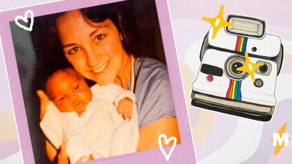 Сын повторил фото отца в младенчестве, но не один. Помогла медсестра, удачно вышедшая на смену через 30 лет
