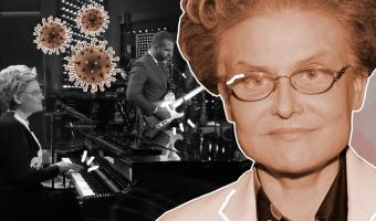 Елена Малышева и Иван Ургант спели песню-памятку про коронавирус. Нужно мыть руки и помнить про фашистов