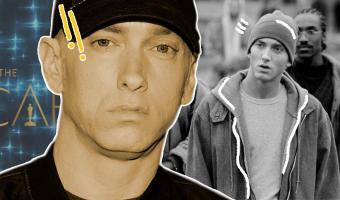 Эминем пришёл на «Оскар» и вернул зрителям 2002-й. Но судя по мемной реакции звёзд, они к этому не были готовы