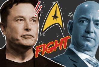 Илон Маск и Джефф Безос стали врагами, но не в реальности. Они попали в сериал Star Trek, и роли им подходят