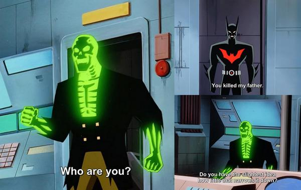 """Бэтмен пришёл мстить Разрушителю, а попал в мемы. Кадр из """"Бэтмена будущего"""" возродился в шутках про злодеев"""