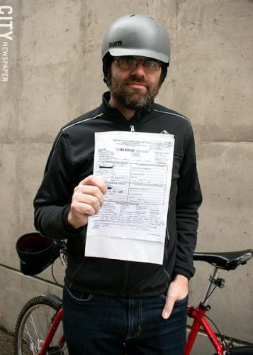 Сбил велосипедиста и пытался его засудить, но его быстро раскрыли. Ведь он