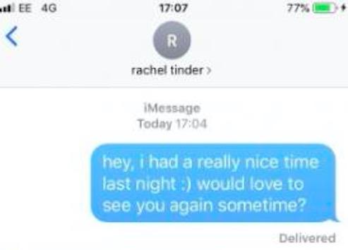Парниша написал новой знакомой после свидания, а она ответила его же словами - буквально. И это испанский стыд