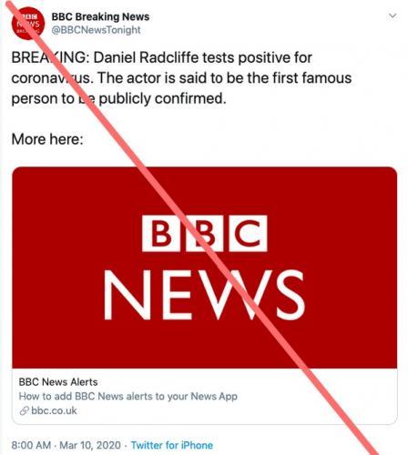 Дэниел Рэдклифф стал жертвой коронавируса, хотя и не заражался им. Просто люди всё ещё слишком доверчивые