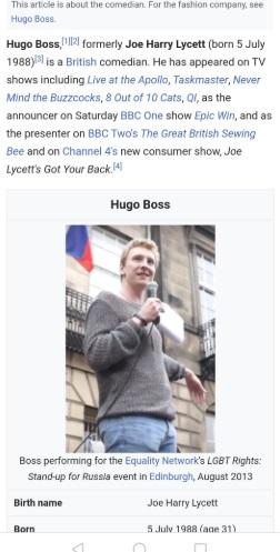 Комик официально сменил имя на Hugo Boss, и твиттер в восторге. Ведь это спланированный акт возмездия