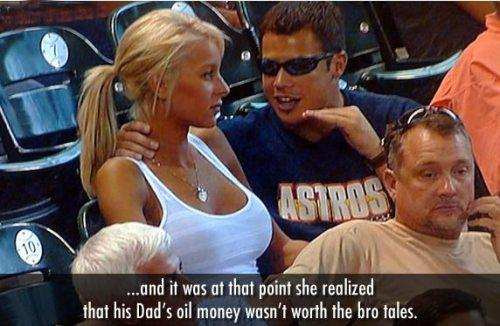 Парень в тёмных очках объясняет блондинке игры, музыку и сериалы. Это мем Bro Explaining и от него не скрыться