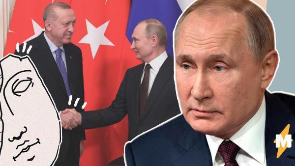 """На фото встречи Путина и Эрдогана спрятался тонкий троллинг. Но поймут его лишь те, у кого было """"5"""" по истории"""