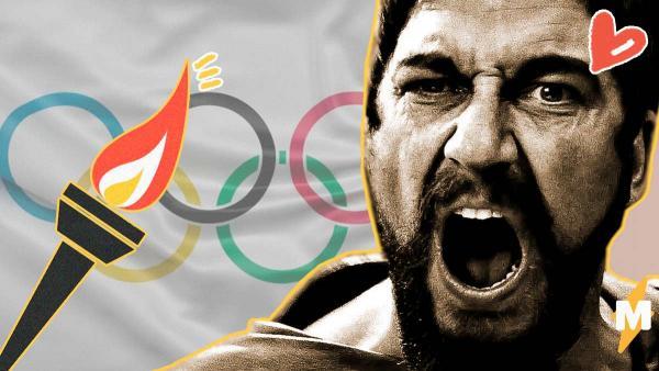 Джерард Батлер успел зажечь Олимпийский огонь до отмены эстафеты. Царь Леонид сделал это в СПАААРТЕЕЕ