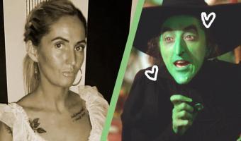 Женщина хотела загар, но стала персонажем «Волшебника страны Оз». Нет, не Страшилой, а зелёной ведьмой