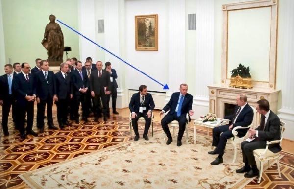 Почему переговоры Путина и Эрдогана - это троллинг года. Любители истории нашли скрытое послание в скульптурах