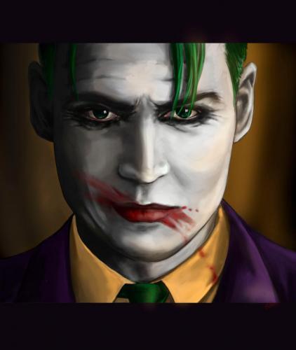 Джонни Депп в роли Джокера - новое вдохновение пикчеров. А всё из-за слуха, что актёр может сыграть злодея