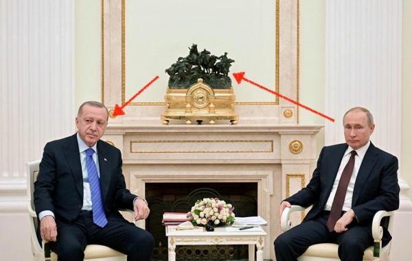 Почему переговоры Путина и Эрдогана - это троллинг года. Любители истории нашли скрытое послание в скульптуре