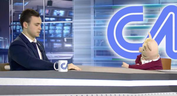 """Николай Соболев стал гостем кукольного шоу """"Скотский мир"""". Его ведут осёл и овца, а тема - налог на онанизм"""
