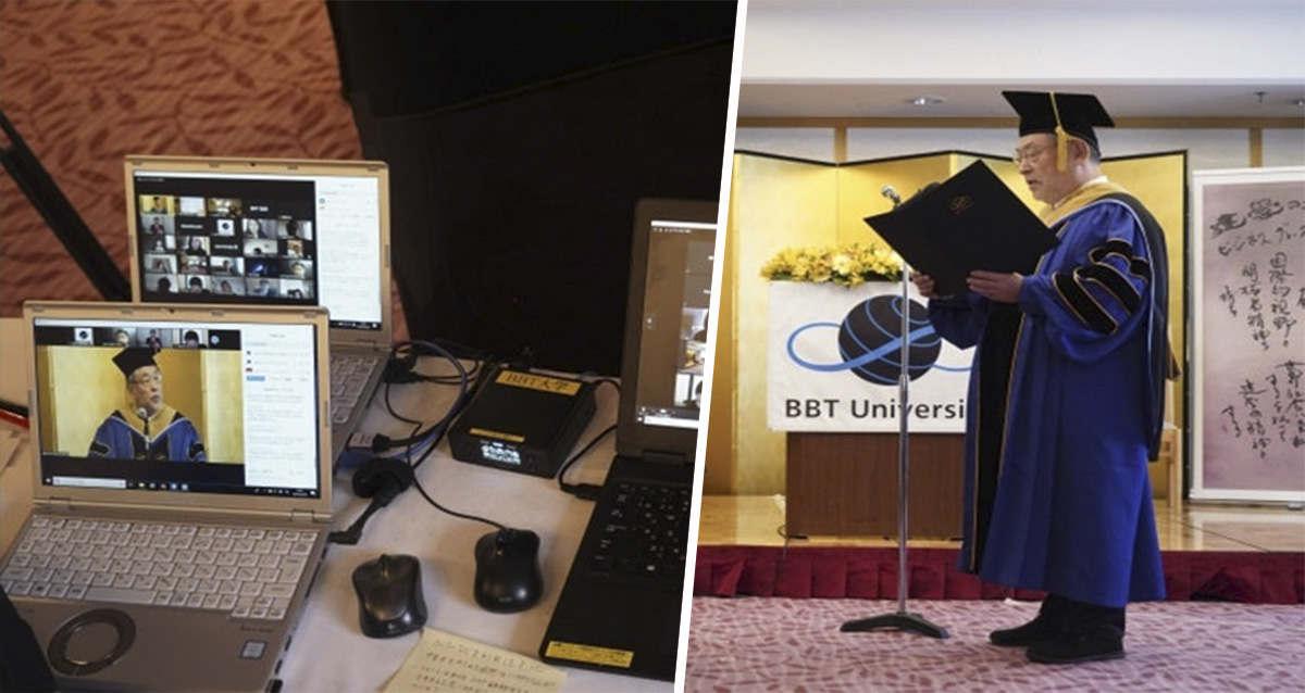 Студенты посетили церемонию вручения дипломов, не выходя из дома. Помог не интернет, а ростовые роботы-аватары