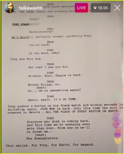 """Тайка Вайтити оживил Тони Старка в сценарии нового """"Тора"""". Фейковом, и фанам больно от такой шутки режиссёра"""