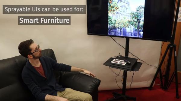 Учёные научили диван управлять телевизором. И всё благодаря новой краске, превращающей в пульты что угодно