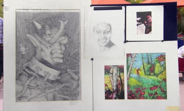 Поклонники Канье Уэста увидели рисунки юного рэпера и удивились. В арте не только талант, но и крупица безумия