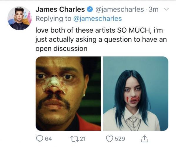 Джеймс Чарльз поделился поддельным магшотом. Но люди уверены – визажист перегнул палку